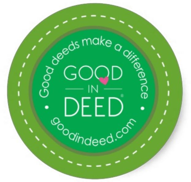 Good In Deed Good Swag Round Sticker