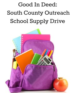 Good In Deed South County Outreach School Supply Drive