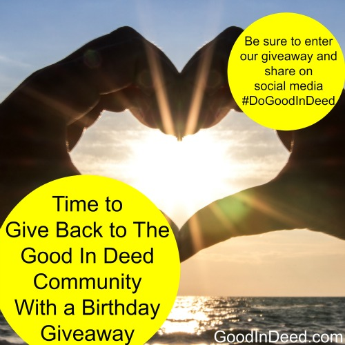 Good In Deed's Birthday $100 Giveaway