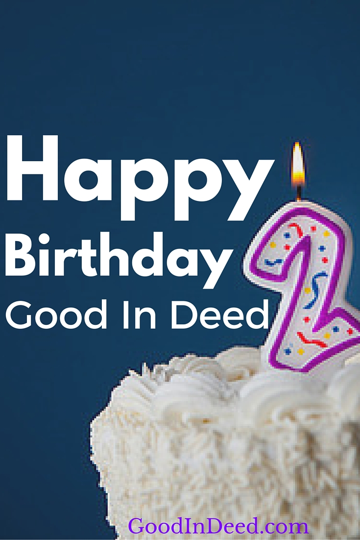 Good In Deed Turns 2 and Has A Gift For You