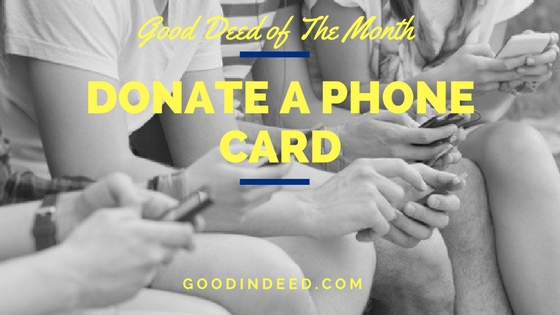 Donate a Phone Card to a Shelter
