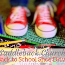 Support the Saddleback Church Rancho Capistrano Shoe Drive