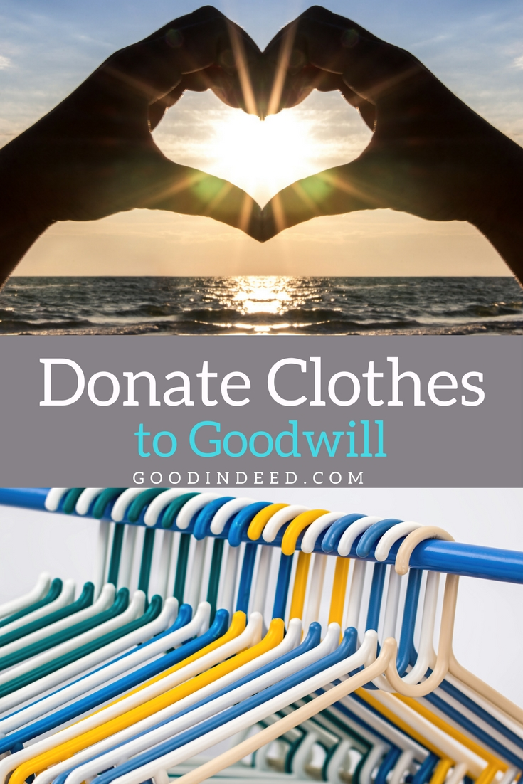 Clean out those closets and drawers before winter to make room for new clothes and donate clothes to Goodwill at the same time.