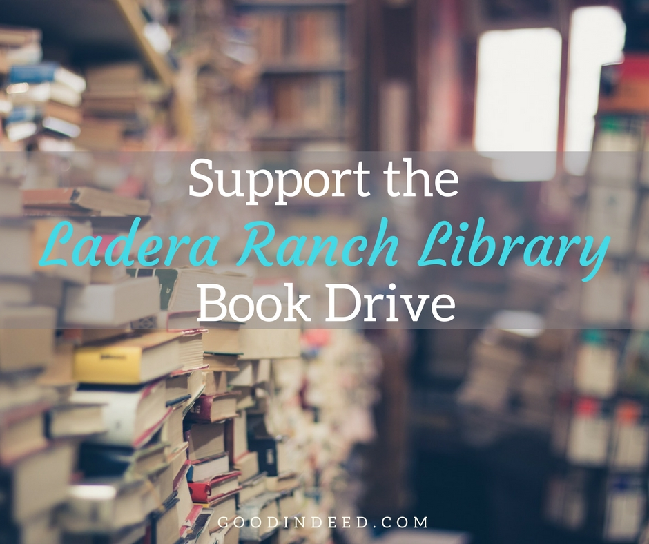 Support the Ladera Ranch Library Book Drive