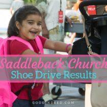 Shoe Drive for Saddleback Rancho Capistrano Results