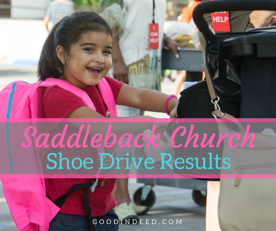 Shoe Drive for Saddleback Rancho Capistrano Results
