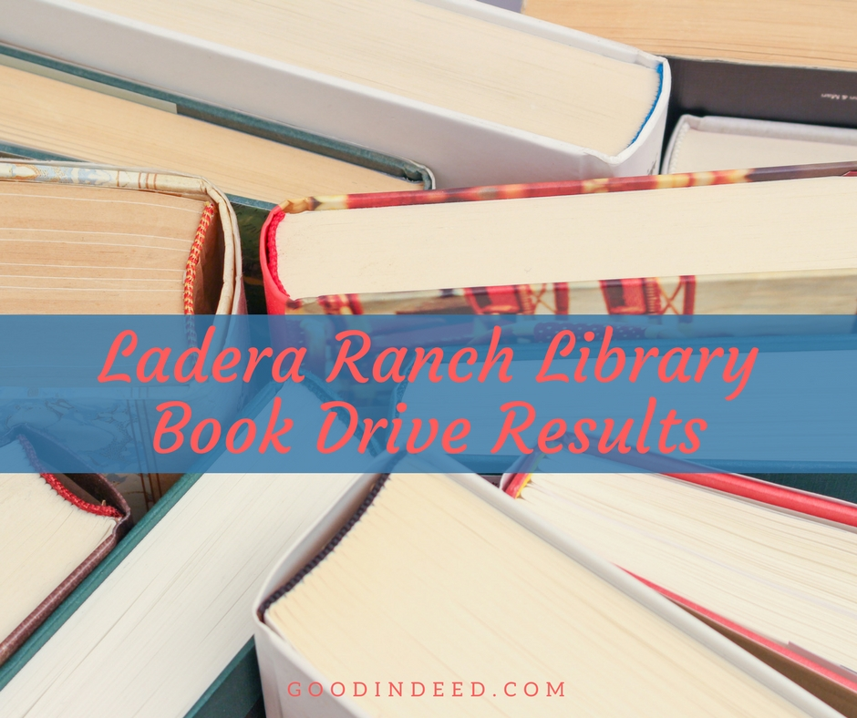 2,893 Books Donated in Ladera Ranch Library Book Drive