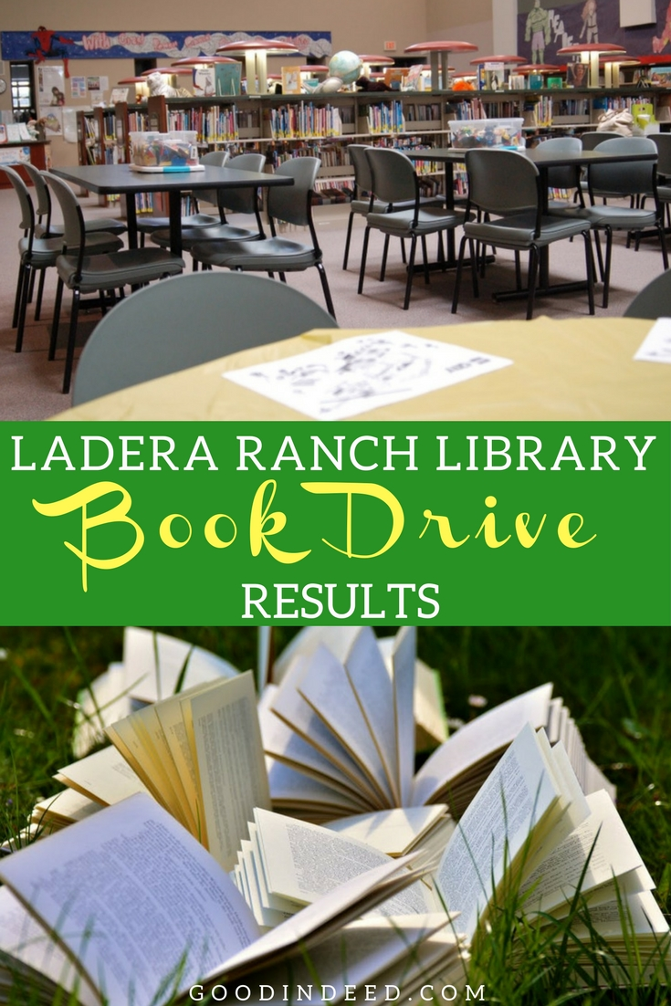 The Good In Deed Ladera Ranch Library Book Drive has come to a close and the results of that drive show the power of our community.