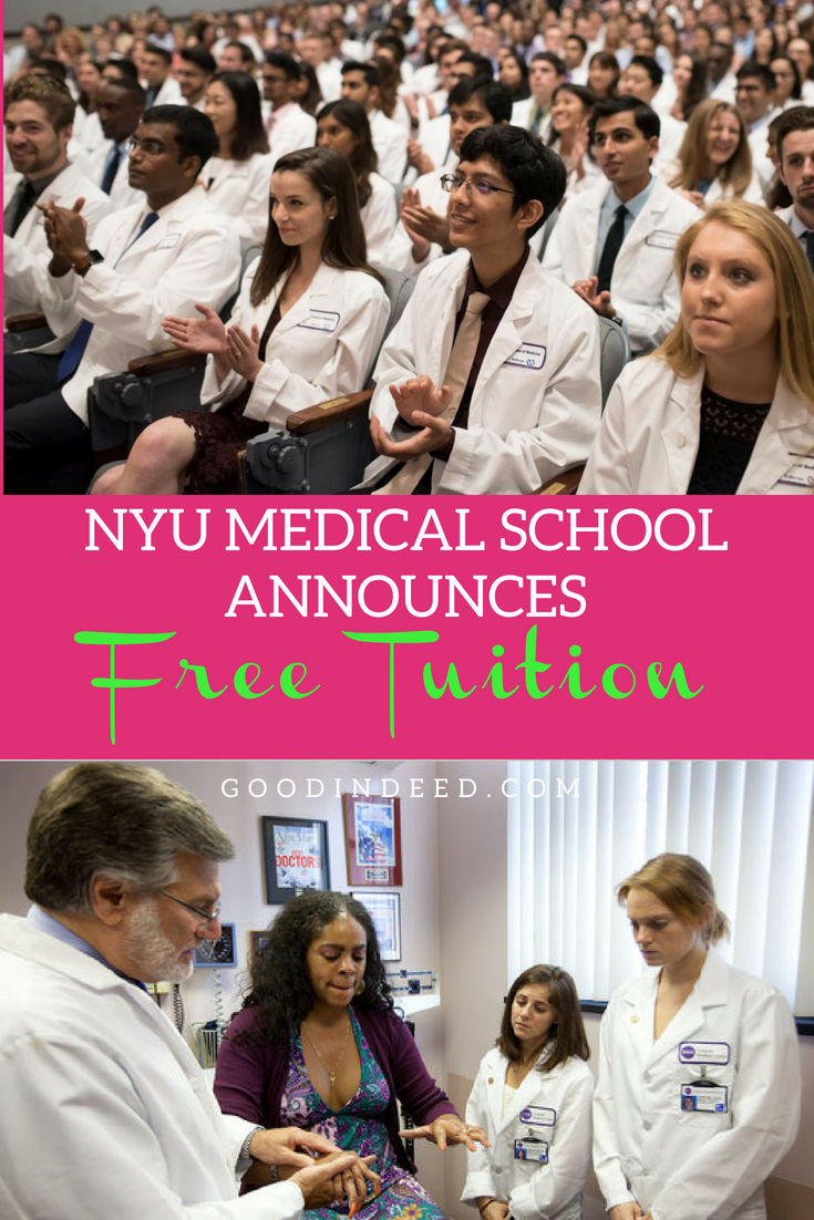 NYU offers free tuition for medical school and the world is shocked by the good deed but it goes beyond just one deed.