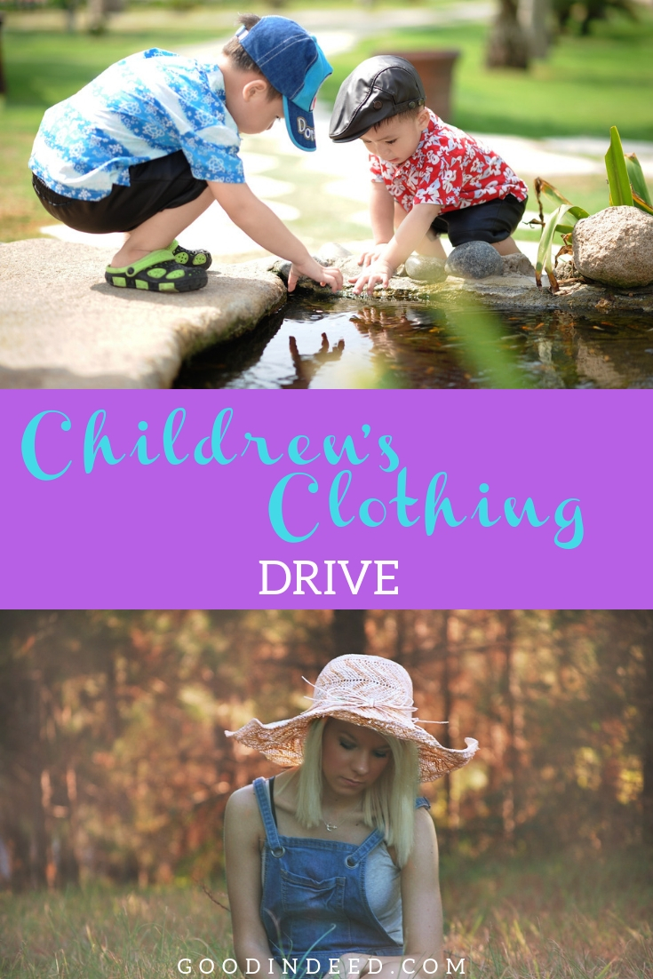 Now is the time to donate children's clothing through Good In Deed for The Closet at Saddleback Rancho Capistrano.