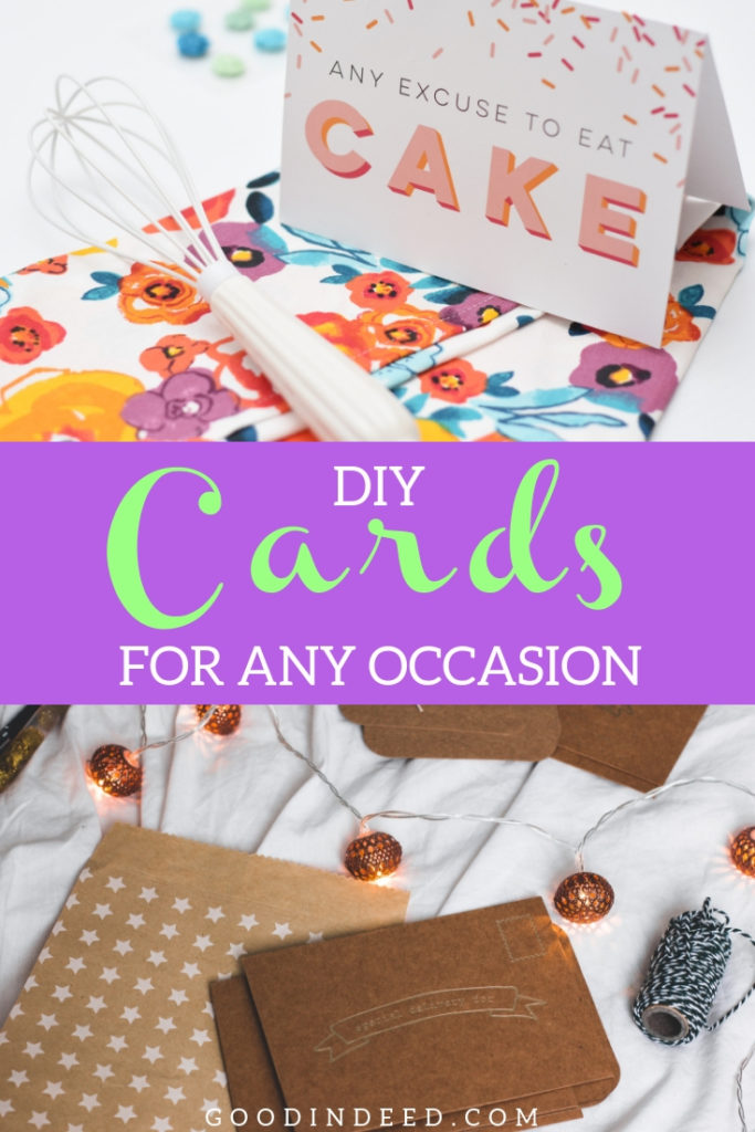 Use DIY card ideas to make your own card and send them to those you care about, the ones that mean the most to you.