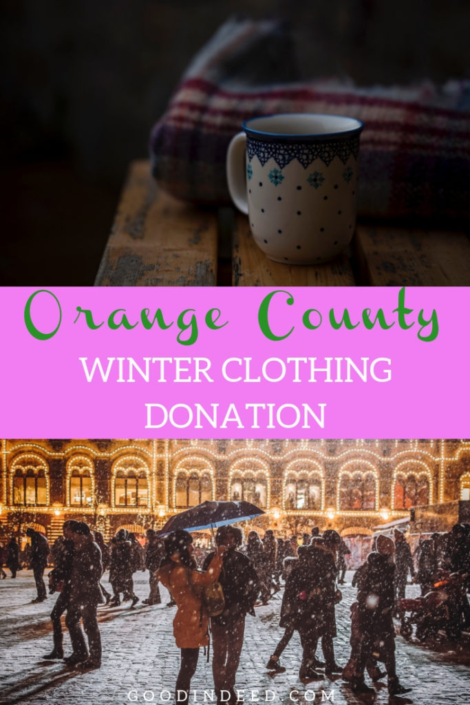 Welcome to the Orange County winter clothing donation, where you have an opportunity to make a difference and help keep people warm.