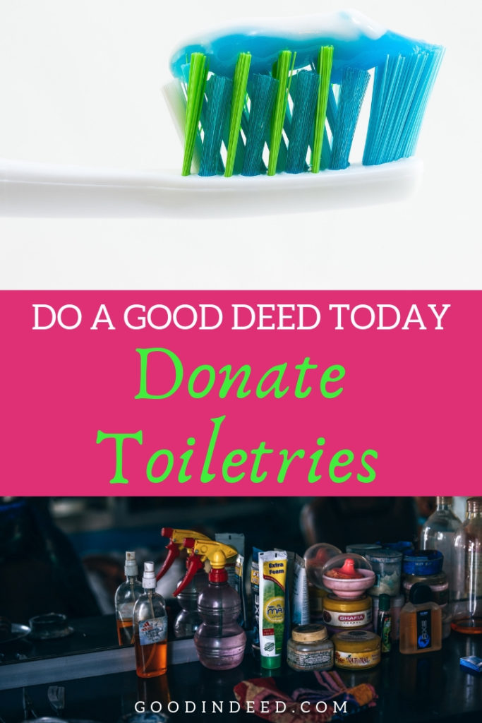 Get involved with the spring toiletries donation drive in order to make a difference in the life of someone or people in need.