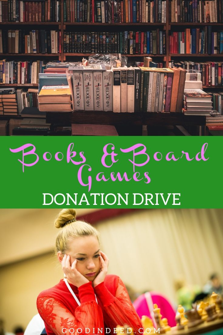 You can discover the importance of books and board games and then donate to the Good In Deed© Books and Board Games Donation Drive!