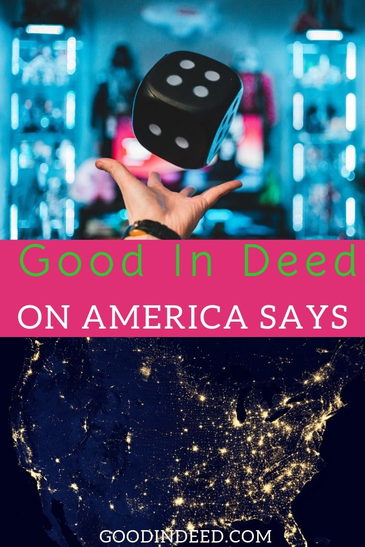 Good In Deed put a team together called the Do-Gooder's and that was only the first part of Good In Deed on America Says.