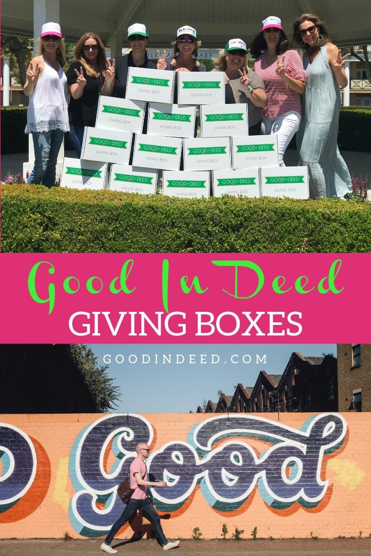 The Good In Deed Giving Box is ready for you to fill them up with donations. The only question is, where will your donations go?