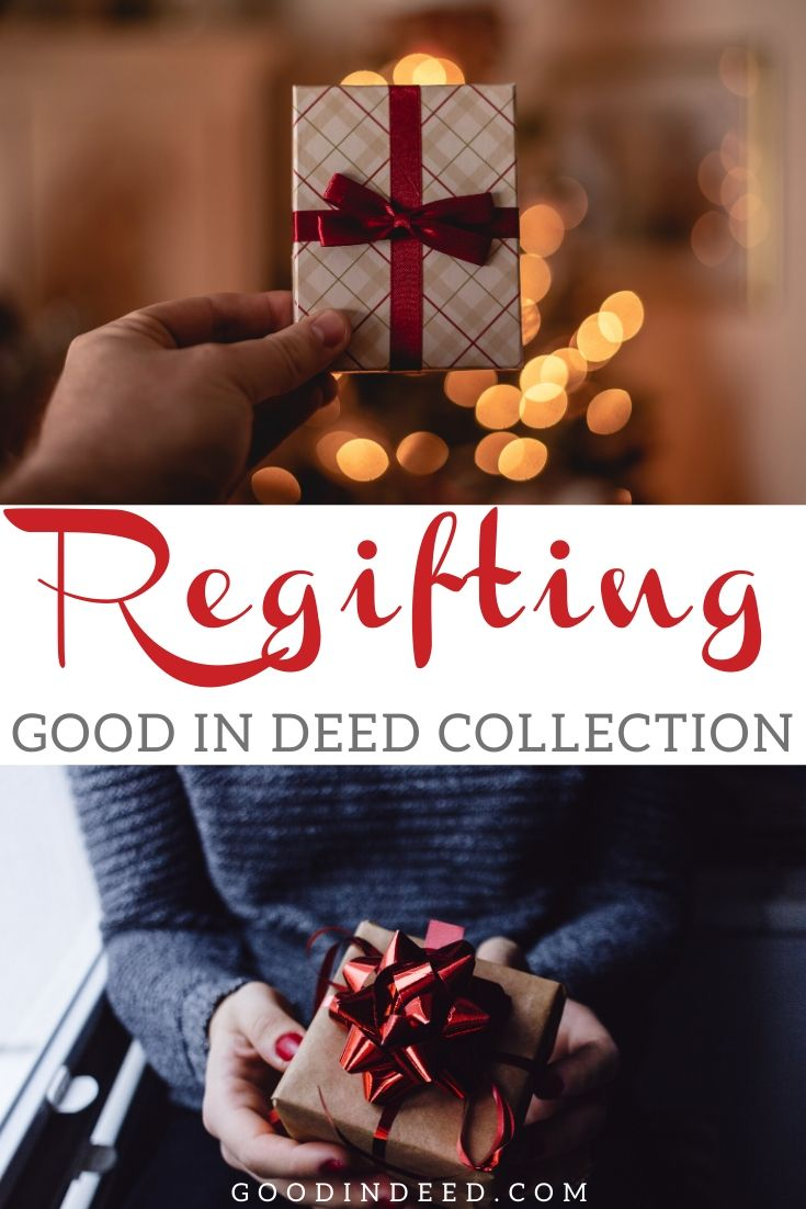 The regifting Good In Deedcollection is a chance for you to donate those unwanted gifts to people who will put them to good use.
