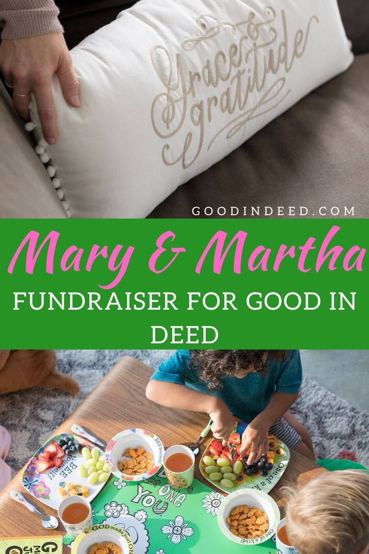 A member of the Good In Deed community hosted a Mary & Martha fundraiser for Good In Deed and the results may surprise you.