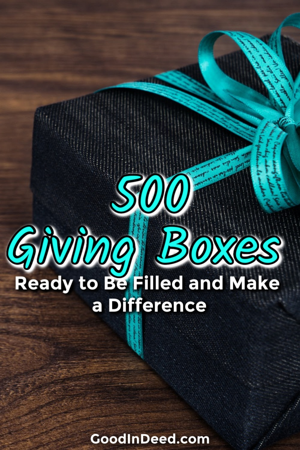 You can easily get some Giving Boxes ready to be filled and then send them off to those who need a little help right now.
