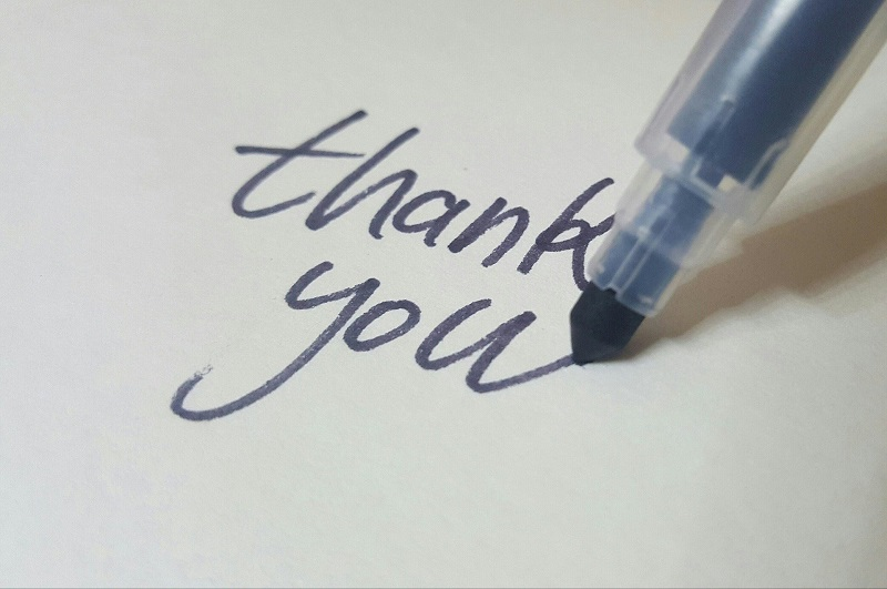 "Ways to Do Good in Orange County Summer 2020 Pen Writing, ""Thank You"""