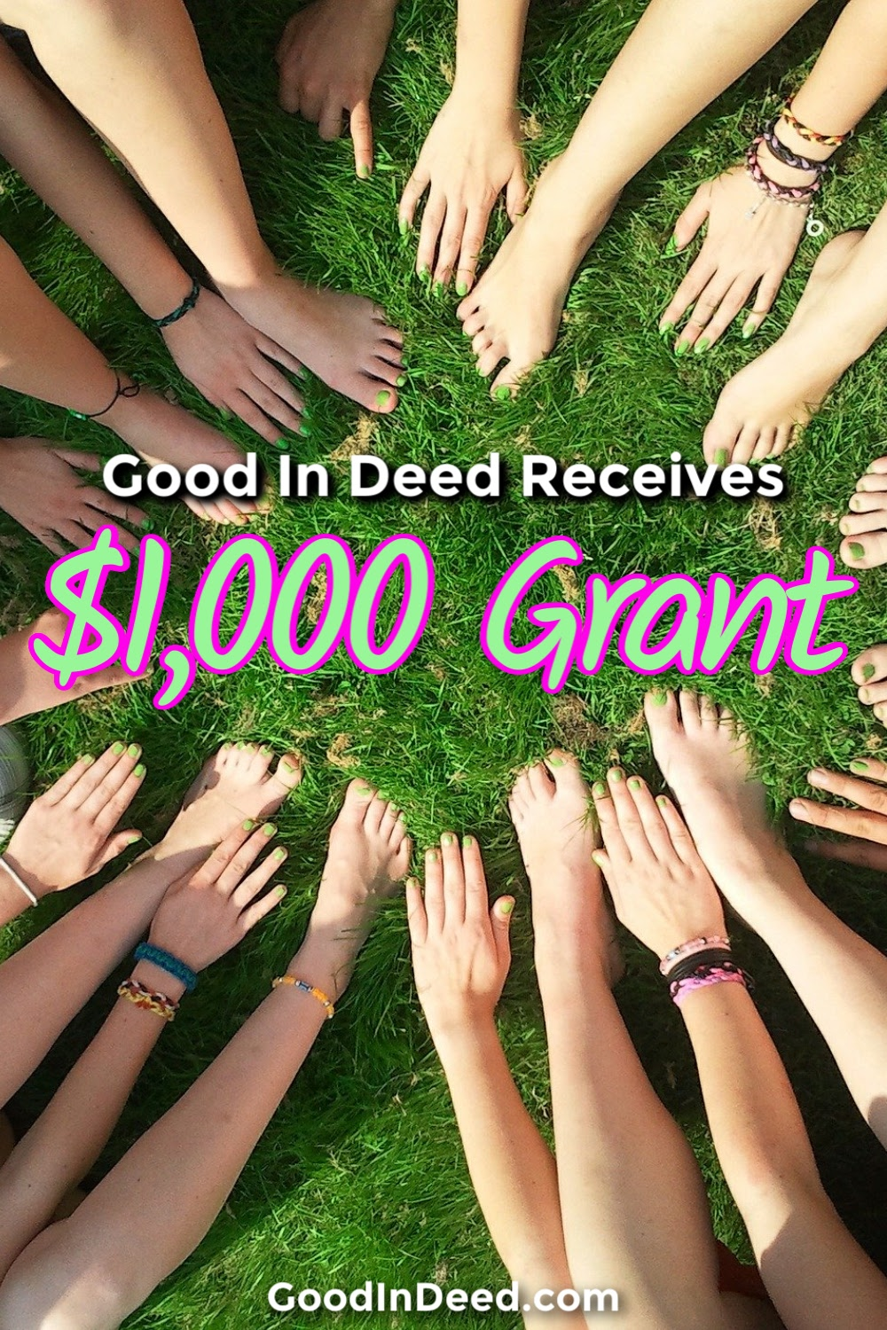 Good In Deed receives $1,000 grant from an anonymous donor and it shows just how charitable the Good In Deed community can be.