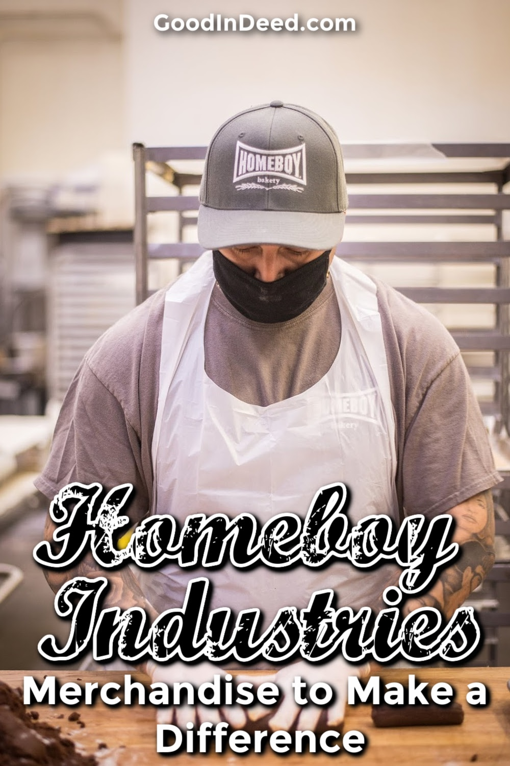 You can buy yourself some Homeboys Industries merchandise and food to help give people a chance to show the world they can be better.