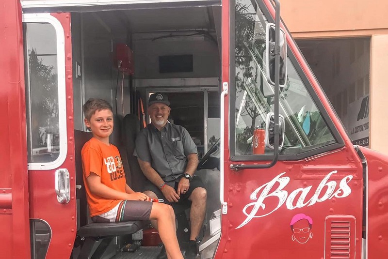 Bracken's Kitchen Feeding Orange County Bill Bracken in a Food Truck