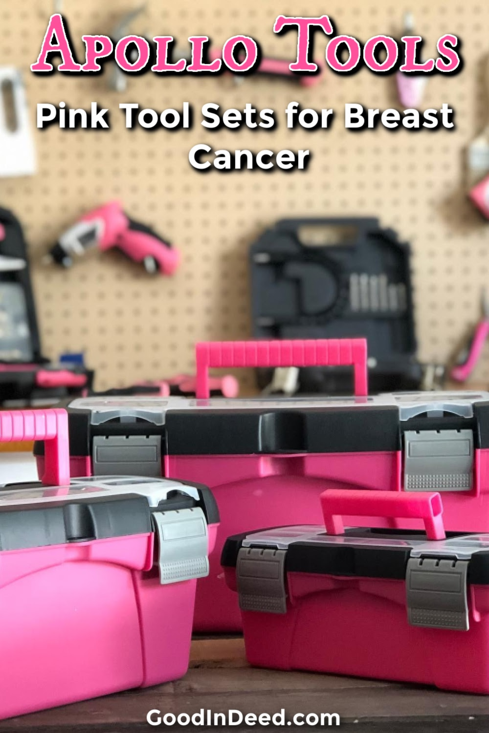 A pink Apollo Tools set will not only help you hang those pictures and keep them level, it could help fix breast cancer and make it a thing of the past.