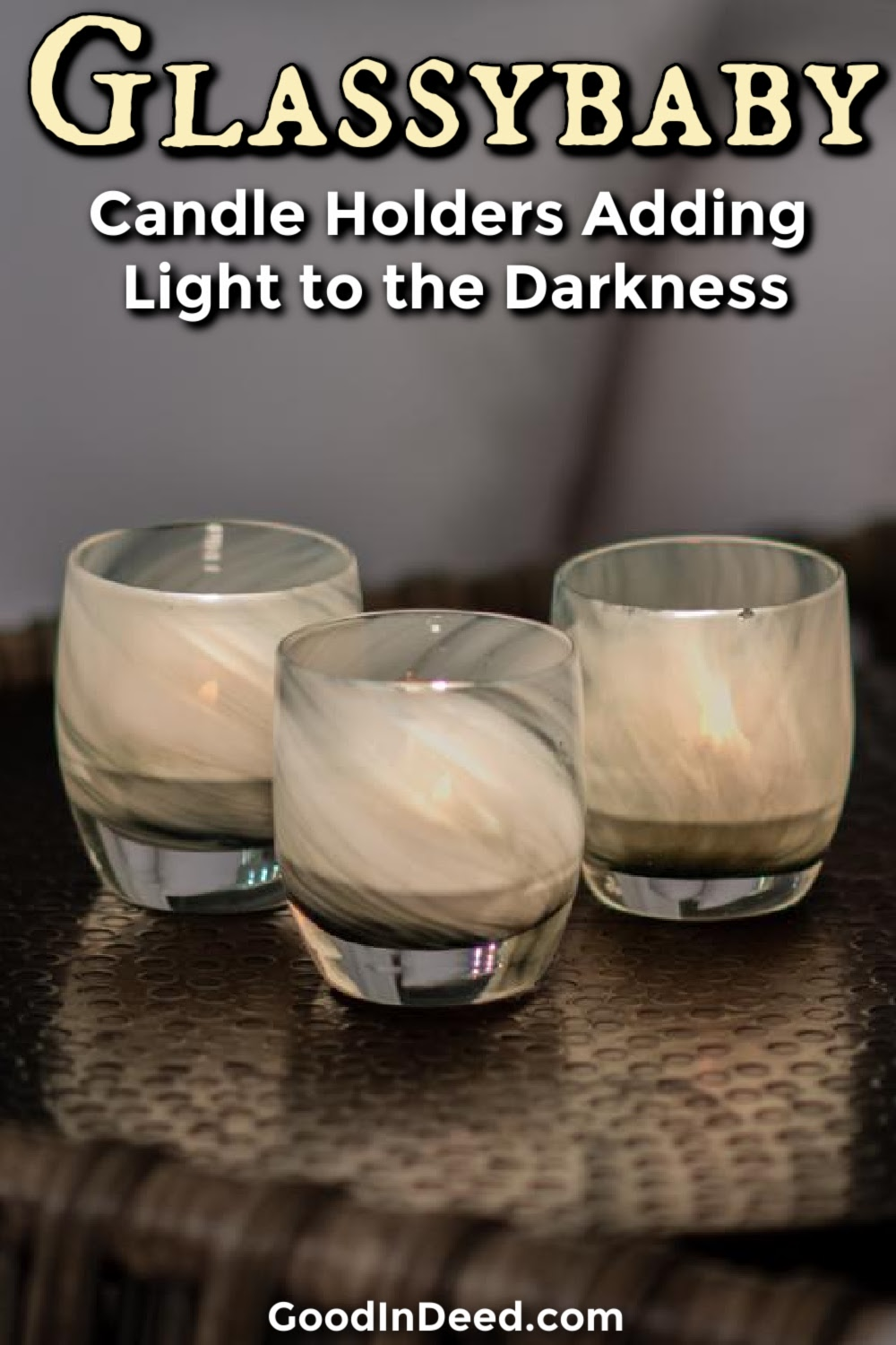 Glassybaby makes some stunning votive holders that help spread the light of a candle so others can find their way in the darkness.