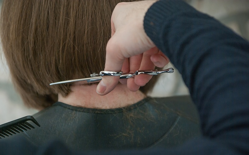 Donate Hair Woman Getting a Haircut