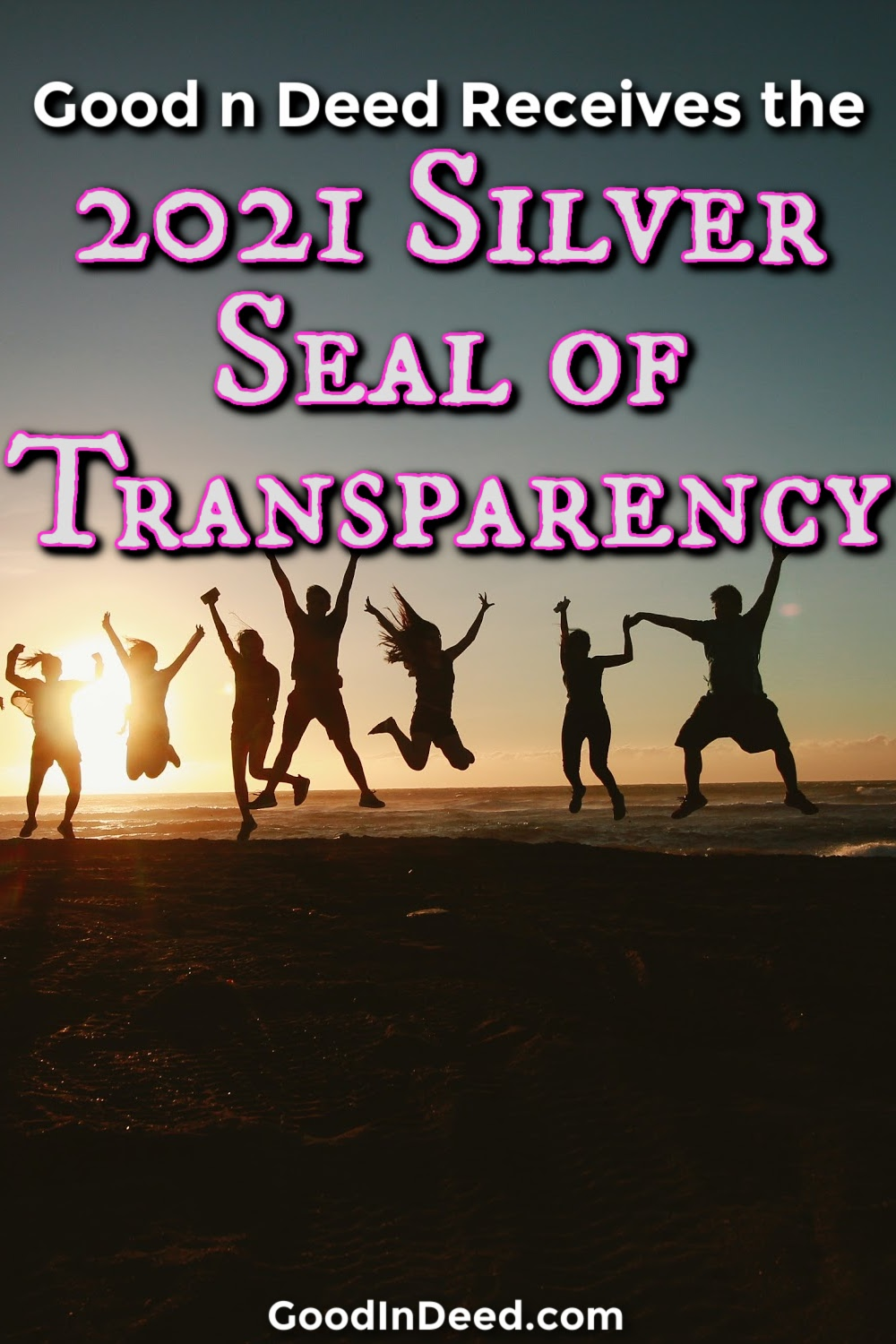 Good In Deed has received the 2021 Silver Seal of Transparency from CandidDotOrg as part of the Guide Star program.