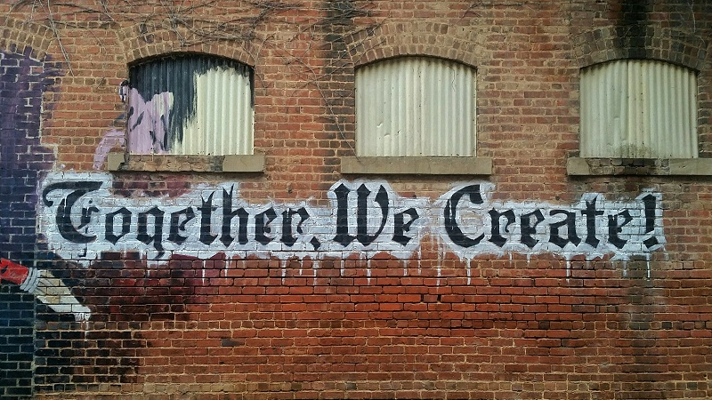 United Way Orange County Art on a Wall That Says Together We Create!