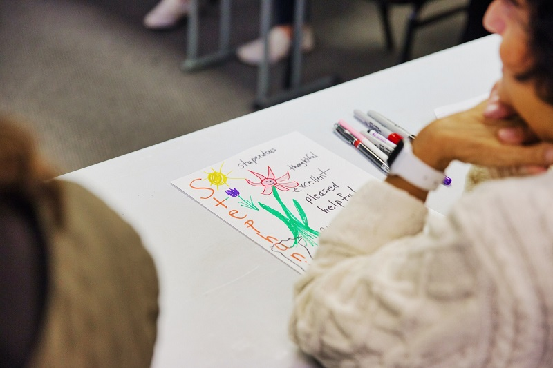 Bloom Foundation Gives Girls Paper with Her Name Written On It and Traits