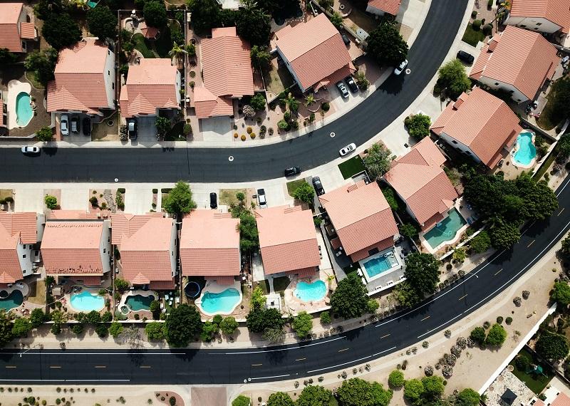 Ways to be a Good Neighbor Overhead View of a Neighborhood